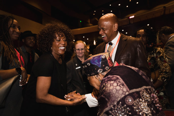Alfre Woodard with Mamie and Tarabu